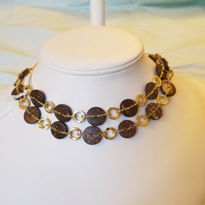 """4/$30 NWT Handmade Gold Plated Necklace 30"""""""
